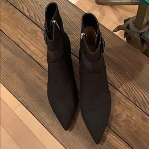Gianvito Rossi black gabardine ankle boots